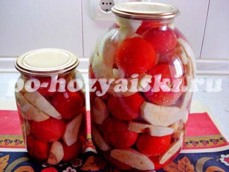яблоки с помидорами