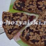 пирог со сливами на кефире