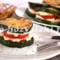 Жареные цукини с помидорами и сыром