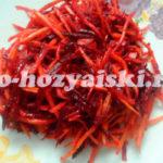 морковь и свекла по-корейски