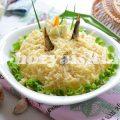 Салат Рыбки в пруду со шпротами, оригинальное блюдо к праздничному столу