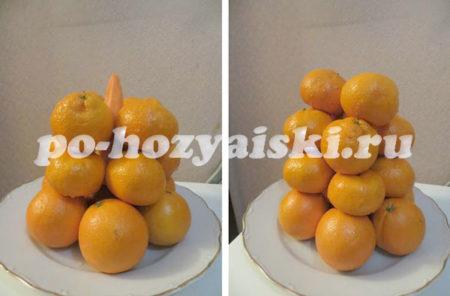 несколько ярусов мандарин