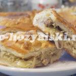 пирог с капустой и фаршем