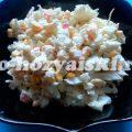 Нежный салат с крабовыми палочками и капустой