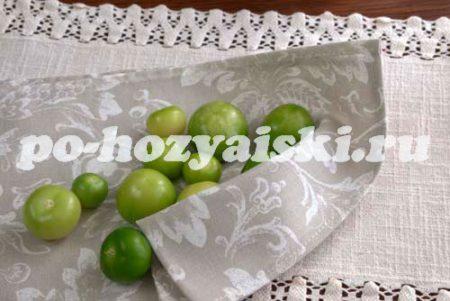 высушить плоды