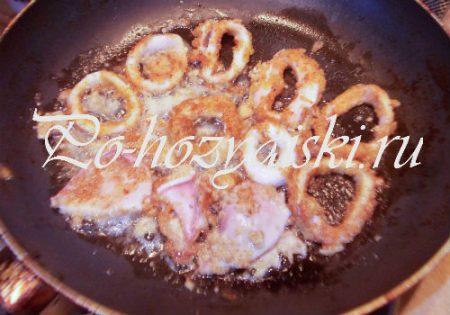 кольца кальмаров в панировке, рецепт с фото