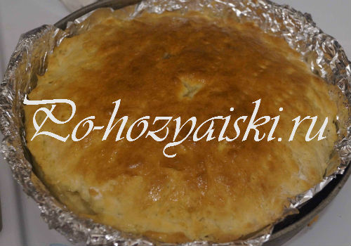 пирог со щавелем на кефире