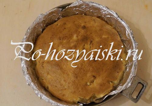 рецепт яблочного пирога на сметане