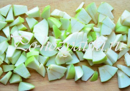 измельчить яблоки