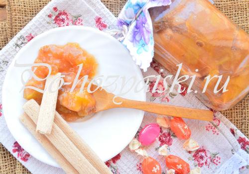 рецепт персикового джема на зиму