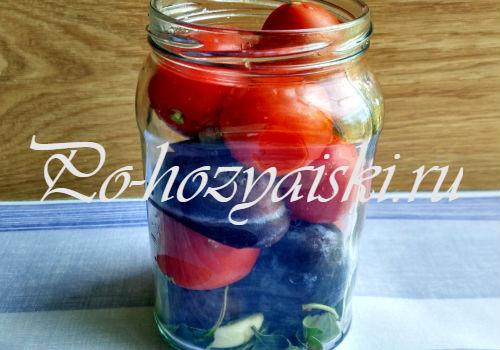 сложить овощи и фрукты
