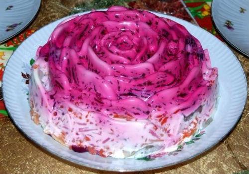 шуба в виде торта