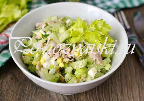 рецепт салата с печенью трески
