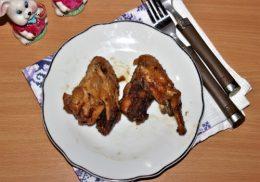 Куриные крылышки с соевым соусом и медом