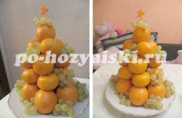 елочка из фруктов