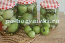 как замариновать зеленые помидоры