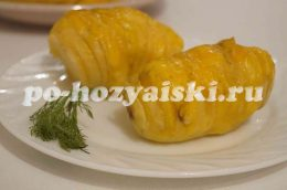 картошка веером в духовке
