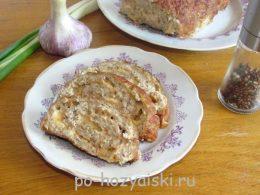 мясной рулет с сыром