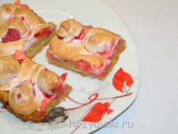 клубничный пирог