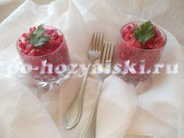 салат из свеклы с картофелем