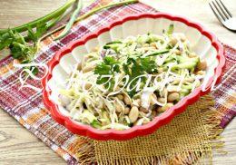 салат с фасолью и капустой