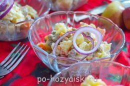 салат с картофелем и горошком