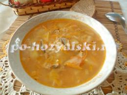 суп из кильки в томатном соусе