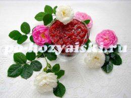 варенье из роз и клубники