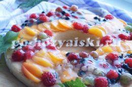 пирог с ягодами в желе